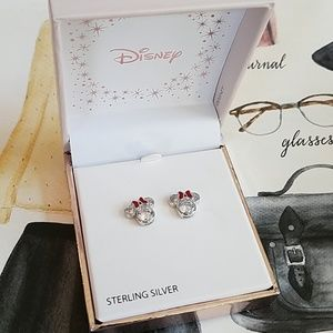 Authentic Disney Minnie Mouse Earrings New in Box